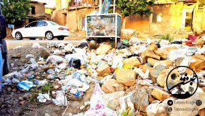 طبشن ؛ انباشت زباله در روستای طبس